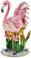 Bejeweled Pink Flamingo Trinket Box