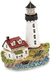 Bejeweled Lighthouse Trinket Box
