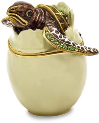 Bejeweled Turtle Hatchling Trinket Box