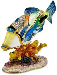 Bejeweled Huma Huma Fish Trinket Box