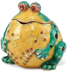 Bejeweled Bubba the Bullfrog Trinket Box