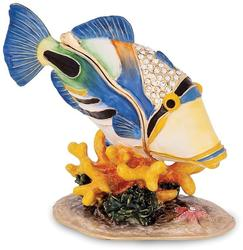 Bejeweled Large Huma Huma Fish Trinket Box