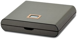 Carbon Fiber Veneer High Gloss Finish 10 Cigar Digital Humidor