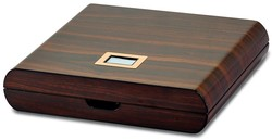 Walnut Wood Veneer High Gloss Finish 10 Cigar Digital Humidor