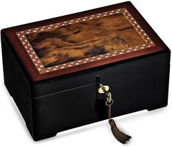 Italian Inlaid Wood Jewelry Box