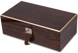 Ebony Veneer High Gloss Finish Multi Use Locking Collector Box