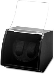 Luxury Giftware Black Finish Wood Dual Watch Winder