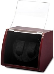 Luxury Giftware Cherry Finish Wood Dual Watch Winder