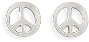 Peace Sign Earrings 925 Sterling Silver