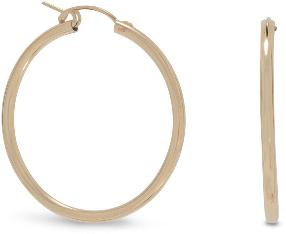 "12/20 Gold Filled 2mm (0.08"") x 34mm Hoops"