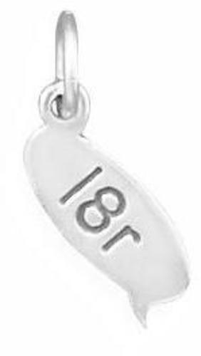 l8r Text Message Charm 925 Sterling Silver