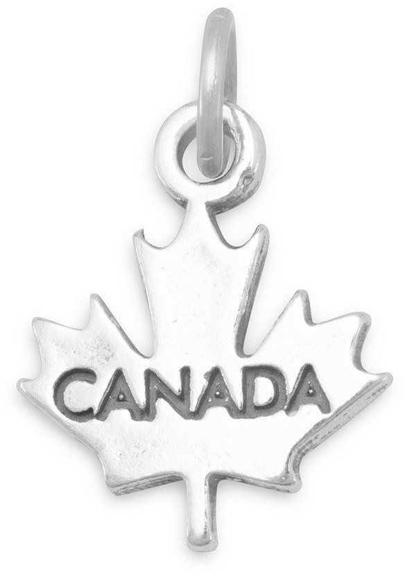 """Canada"" Maple Leaf Charm 925 Sterling Silver"