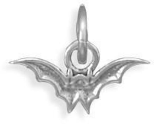 Oxidized Bat Charm 925 Sterling Silver