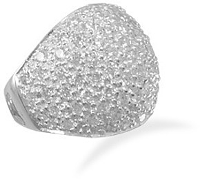 Domed Pave CZ Ring 925 Sterling Silver