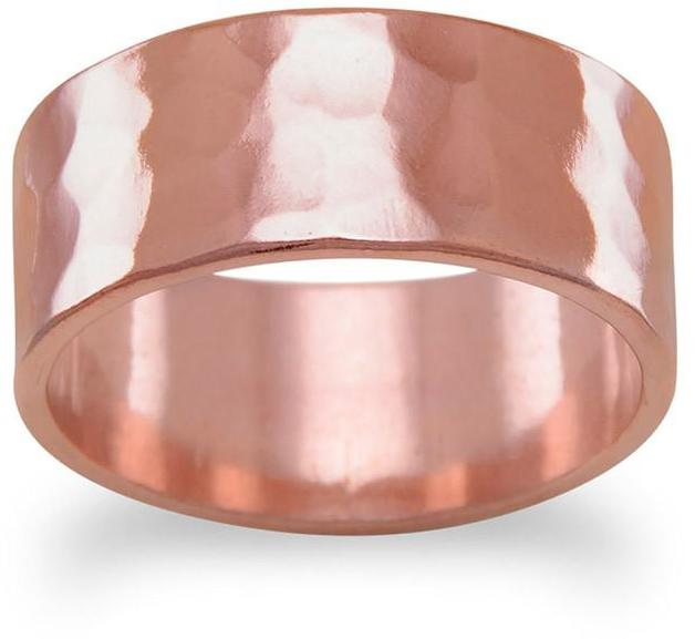 "8mm (1/3"") Solid Copper Hammered Ring"