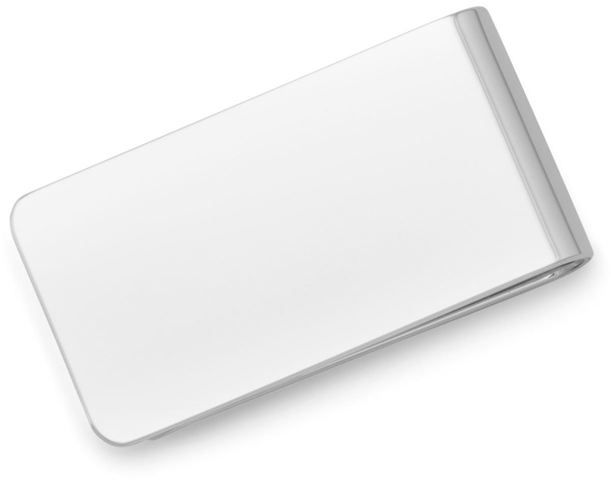 Polished Money Clip 925 Sterling Silver