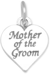 Oxidized Mother of the Groom Charm 925 Sterling Silver