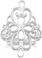 Polished Ornate Filigree Ring 925 Sterling Silver