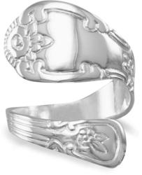 High Polish Spoon Ring 925 Sterling Silver (8822-bt)