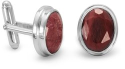 Ruby Cuff Links 925 Sterling Silver