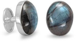 Labradorite Cuff Links 925 Sterling Silver