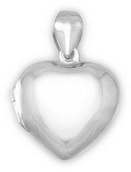 Small Polished Heart Locket 925 Sterling Silver