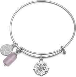 Expandable Tree Charm Fashion Bangle Bracelet (W2759)
