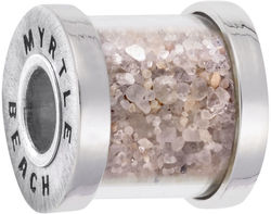 Myrtle Beach Sand Capsule Bead Charm (Choose Metal) by Rembrandt