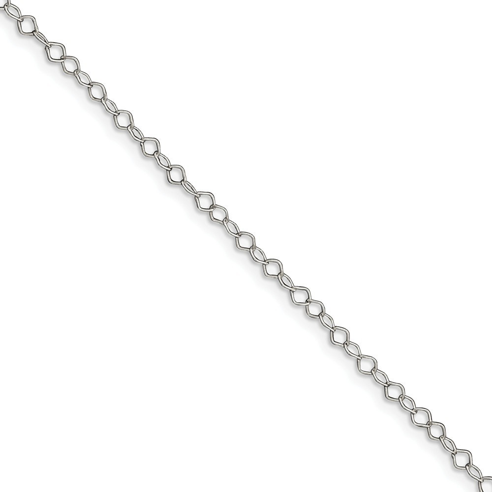"10"" Sterling Silver 0.85mm Fancy Anklet"