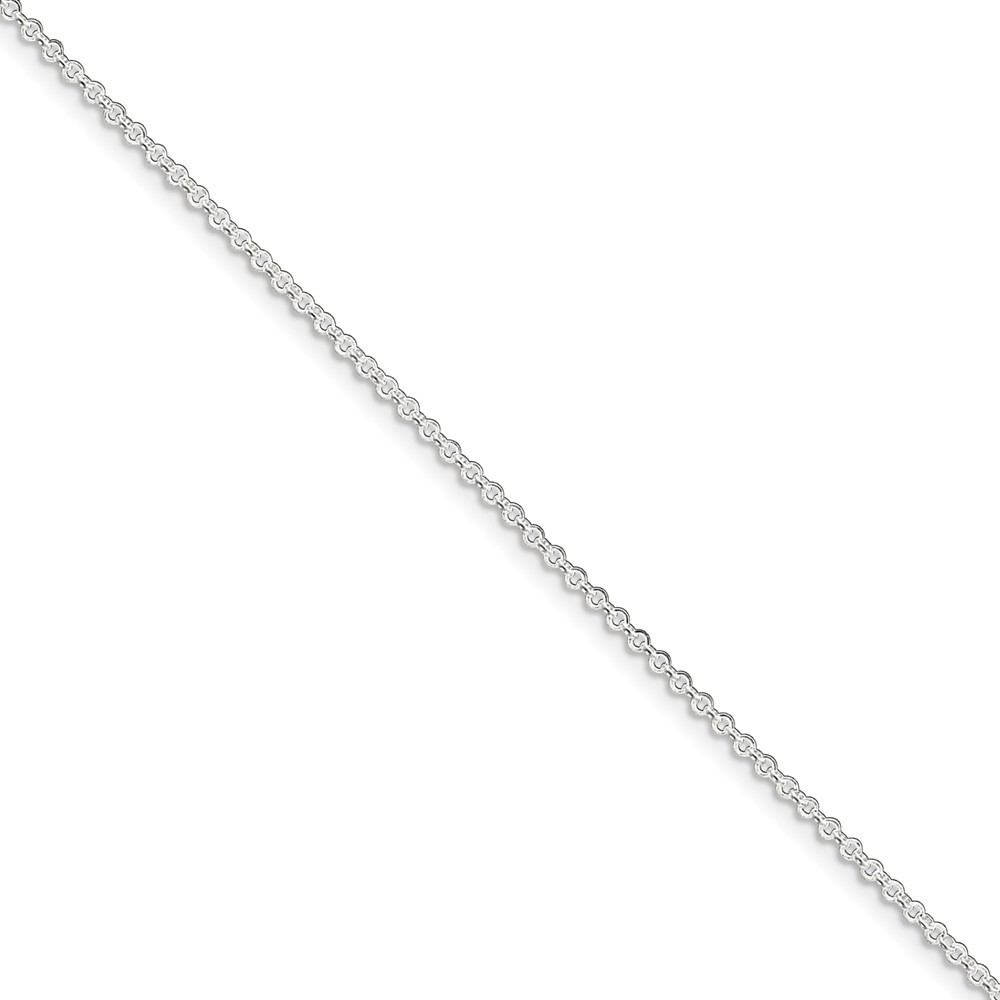"9""+1"" Sterling Silver 1.5mm Rolo Chain Anklet"