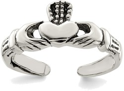 Sterling Silver Claddagh Toe Ring