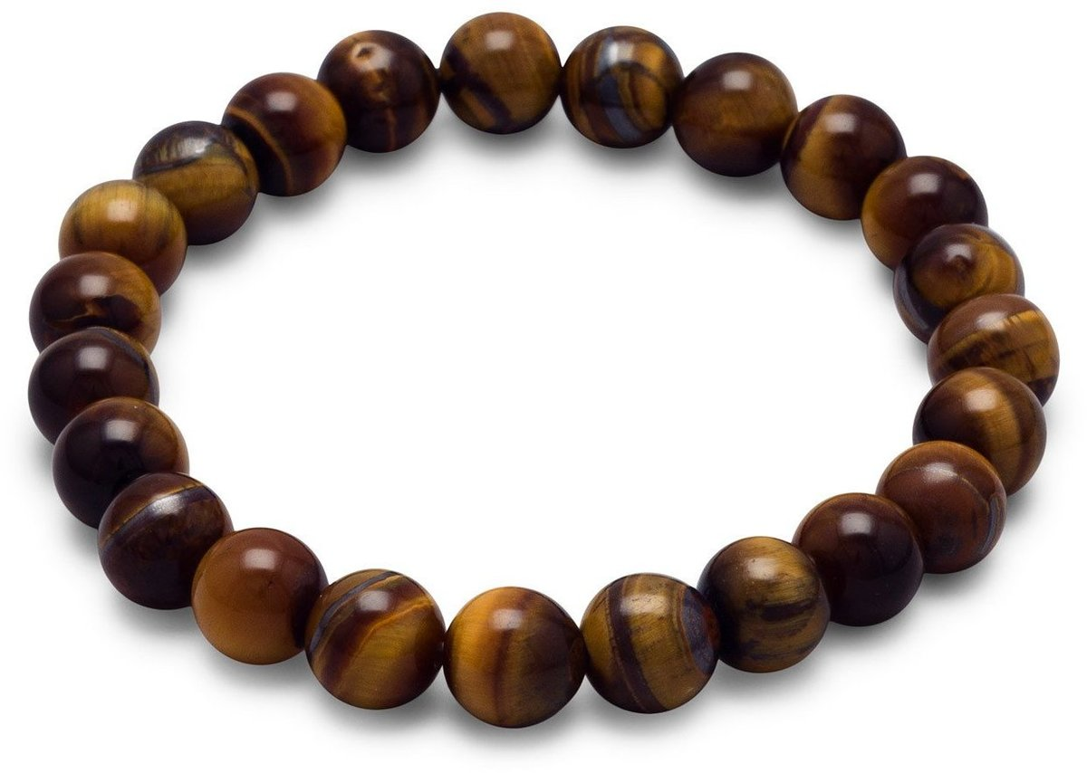 "8mm (1/3"") Tigers Eye Bead Stretch Bracelet"