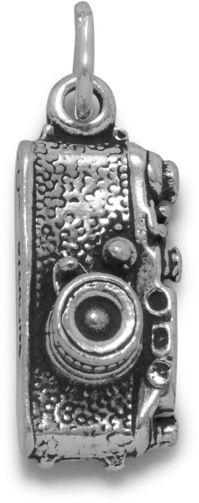 Camera Charm 925 Sterling Silver
