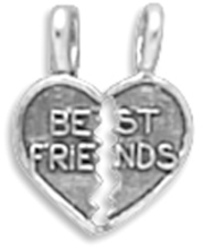 Break-Away Best Friends Charm 925 Sterling Silver