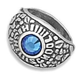 Class Ring Charm 925 Sterling Silver