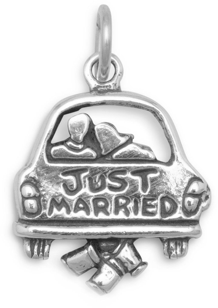 Just Married Charm 925 Sterling Silver