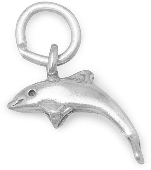 Small Dolphin Charm 925 Sterling Silver