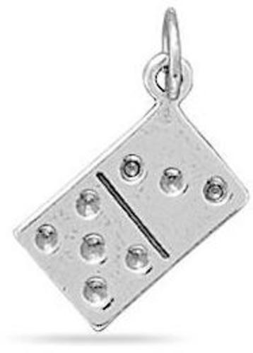 Reversible Domino Charm 925 Sterling Silver
