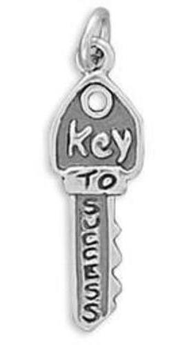 Key To Success Charm 925 Sterling Silver