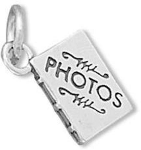 Photo Album Charm 925 Sterling Silver