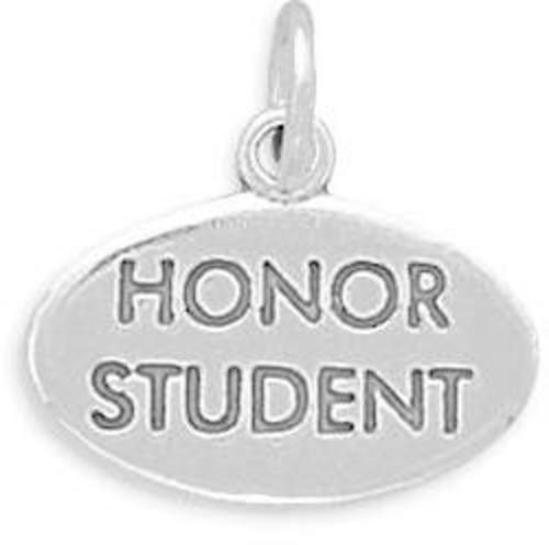 Honor Student Charm 925 Sterling Silver