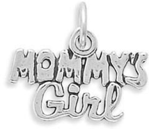 Mommys Girl Charm 925 Sterling Silver