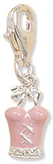 Bustier Charm with Lobster Clasp 925 Sterling Silver - LIMITED STOCK