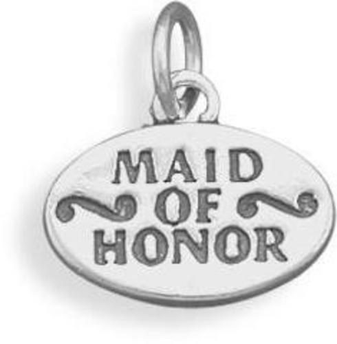 Maid of Honor Charm 925 Sterling Silver