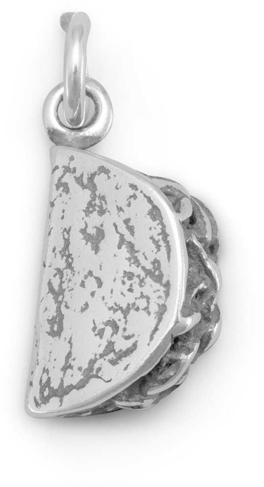 (C) Taco Charm 925 Sterling Silver