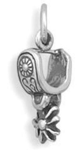 (C) Spur Charm 925 Sterling Silver