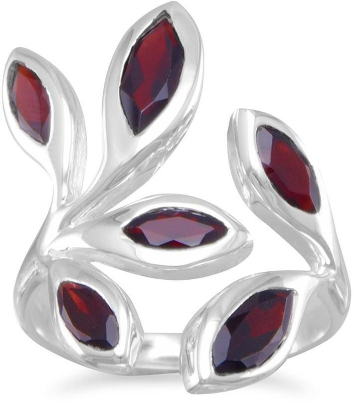 Wrap Around Garnet Ring 925 Sterling Silver