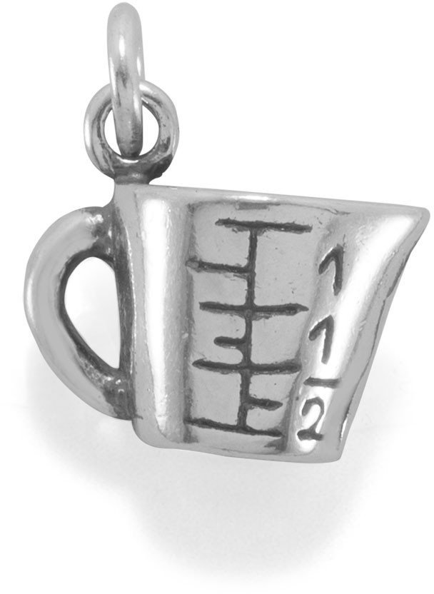 Measuring Cup Charm 925 Sterling Silver