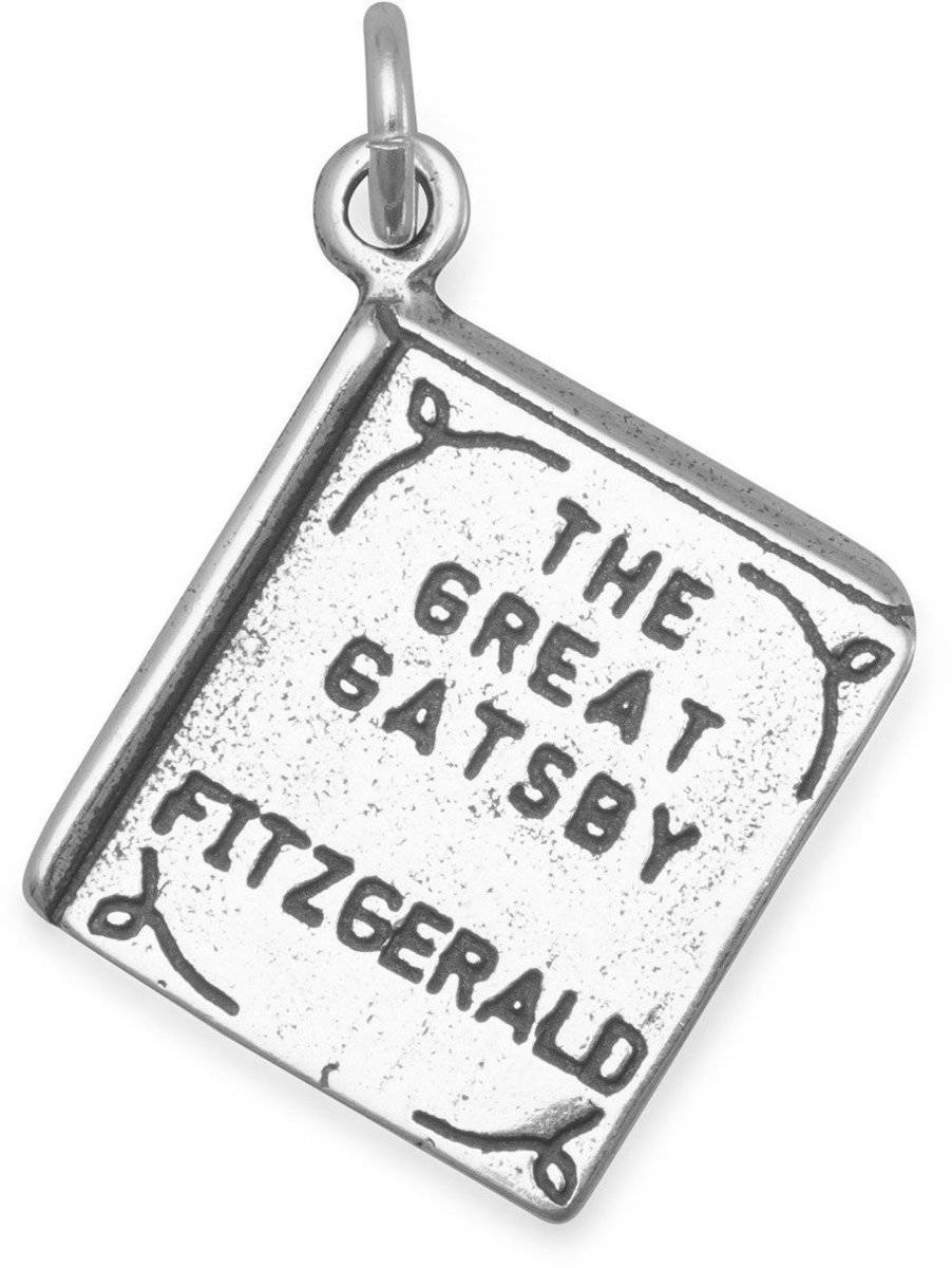The Great Gatsby Book Charm 925 Sterling Silver