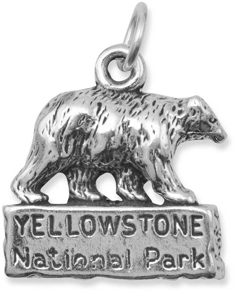 Yellowstone National Park Charm 925 Sterling Silver
